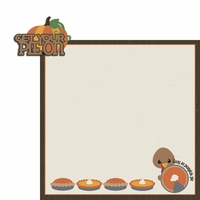 Turkey Time: Pie On 2 Piece Laser Die Cut Kit