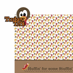 Turkey Trot 2 Piece Laser Die Cut Kit