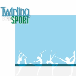 2SYT Twirling: Twirling Is My Sport 2 Piece Laser Die Cut Kit