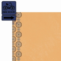Two Wheels: Bike Route 2 Piece Laser Die Cut Kit