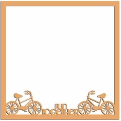 2SYT Two Wheels: Fun Together 12 x 12 Overlay Laser Die Cut