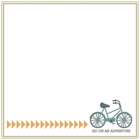 Two Wheels: Go On An Adventure 12 x 12 Paper