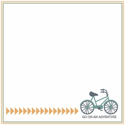 2SYT Two Wheels: Go On An Adventure 12 x 12 Paper