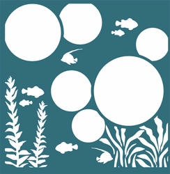 Under The Sea 12 x 12 Overlay Laser Die Cut