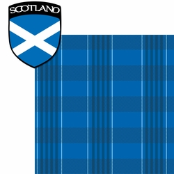 United Kingdom: Scotish Plaid 2 Piece Laser Die Cut Kit