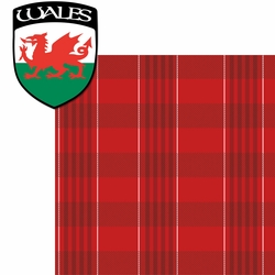 United Kingdom: Welsh Plaid 2 Piece Laser Die Cut Kit