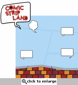 Universal: Comic Strip Land 2 Piece Laser Die Cut Kit