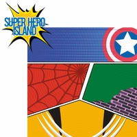 Universal: Super Hero Island 2 Piece Laser Die Cut Kit