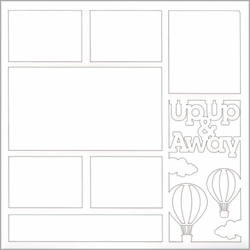 2SYT Up Up & Away 12 x 12 Overlay Laser Die Cut