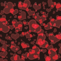 Valentine's Day Glowing Hearts Custom 12 x 12 Paper
