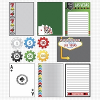 Vegas Baby 2: Journaling Cards 12 x 12 Paper