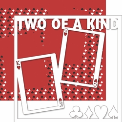 Vegas Baby: Two of A Kind 12 x 12 Overlay Quick Page Laser Die Cut