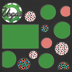 1SYT Vegas Baby: Vegas Patterned Circles 12 x 12 Overlay Quick Page Laser Die Cut