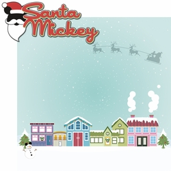2SYT Very Merry: Santa Mickey 2 Piece Laser Die Cut Kit