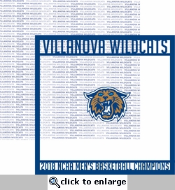 Villanova Wildcats 2018 Champs Overlay Quick Page Laser Die Cut