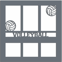 Volleyball 12 x 12 Overlay Laser Die Cut