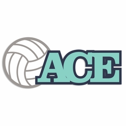 Volleyball: ACE Laser Die Cut