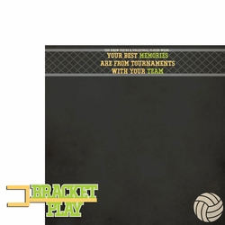 Volleyball: Bracket Play 2 Piece Laser Die Cut Kit