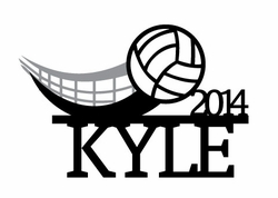 Volleyball: Custom Volleyball Laser Die Cut