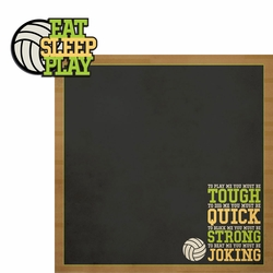 2SYT Volleyball: Eat Sleep Play 2 Piece Laser Die Cut Kit