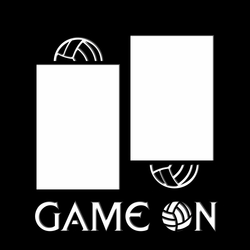 Volleyball: Game On 12 x 12 Overlay Laser Die Cut