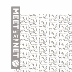 Volleyball: Meet me at the Net 2 Piece Laser Die Cut Kit
