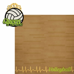 2SYT Volleyball: Queen Court 2 Piece Laser Die Cut Kit