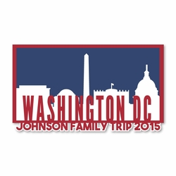 Washington D.C Trip Custom Laser Die Cut