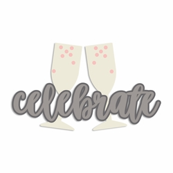 Wedding: Celebrate Laser Die Cut