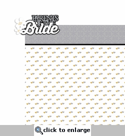 Wedding: Parents of the bride 2 Piece Laser Die Cut Kit
