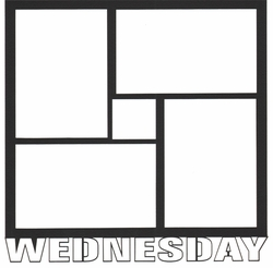 1SYT Wednesday 12 x 12 Overlay Laser Die Cut