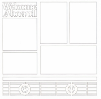 Welcome Aboard 12 x 12 Overlay Laser Die Cut