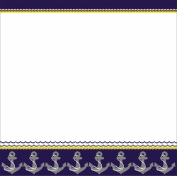 Welcome Aboard: Anchor Border 12 x 12 Paper