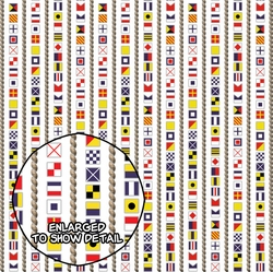 Welcome Aboard: Nautical Flags 12 x 12 Paper