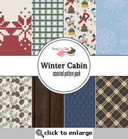Winter Cabin Assorted 12 x 12 Paper Pack