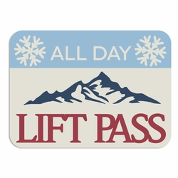Winter Cabin: Lift Pass Laser Die Cut