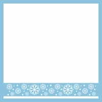 Winter Chill Snowflake Border 12 x 12 Overlay Laser Die Cut