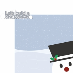 Winter Fun: Build A Snowman 2 Piece Laser Die Cut Kit