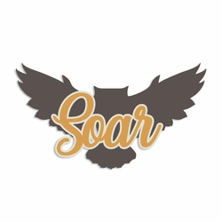 Winter Owl: Soar Laser Die Cut
