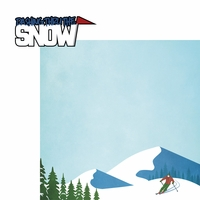 Winter Sports: Dashing Thru The Snow 2 Piece Laser Die Cut Kit