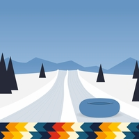 Winter Sports: Snow Tubing 12 x 12 Paper