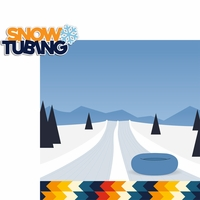 Winter Sports: Snow Tubing 2 Piece Laser Die Cut Kit