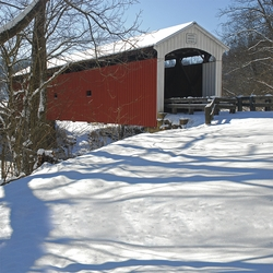 Winter Wonderland: Covered Bridge 12x12 Paper