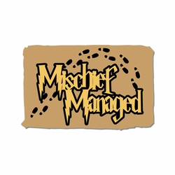 Wizard World: Mischief Managed Laser Die Cut