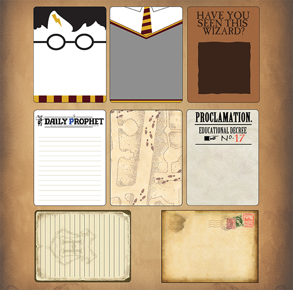 syt wizarding world wizard journaling cards
