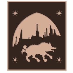 Wizarding World: Wizard Village Laser Die Cut