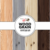 Wood Grain Assorted 12 x 12 Paper Pack