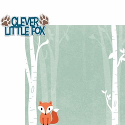 Woodland Creatures: Clever Little Fox 2 Piece Laser Die Cut Kit
