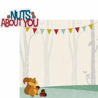 Woodland Creatures: Nuts About You 2 Piece Laser Die Cut Kit