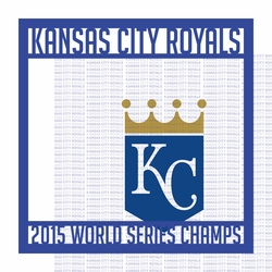 World Series: Kansas City Royals 12 x 12 Overlay Quick Page Laser Die Cut Kit